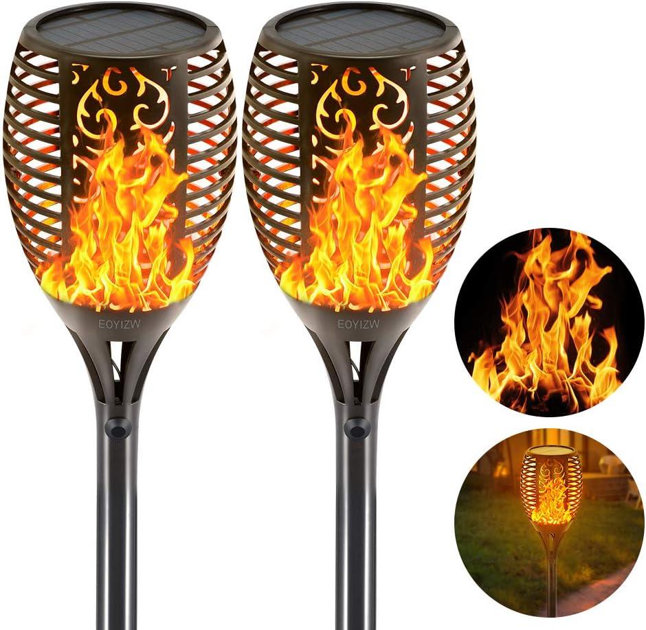 LED Flickering Flame Lights Solar Torch Lawn Garden Waterproof Lamp Outdoor C6I3
