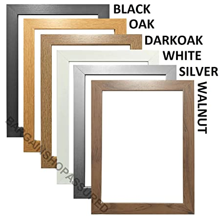 5285deed1ba MODERN STYLE SOLID WOODEN EFFECT PICTURE FRAMES PHOTO FRAMES POSTER FRAMES  READY TO HANG OR TO STAND (A4 (CERTIFICATE SIZE)