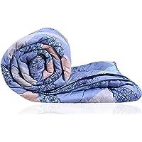 Decoforia Geometric Pitunia Microfiber Reversible Quilt Blanket AC Comforter, Single, 120 GSM, Lavender Blue