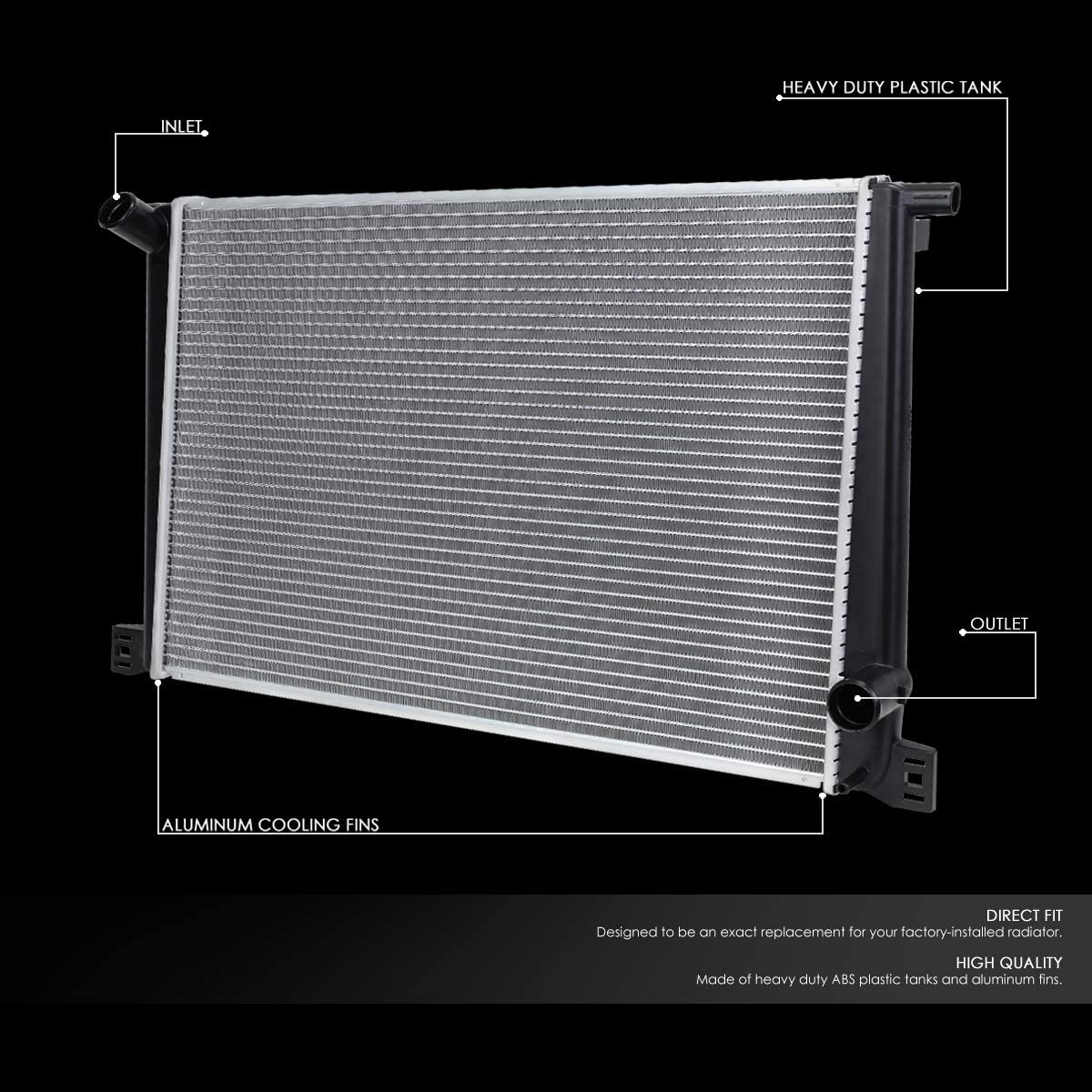 FOR 2007-2016 MINI COOPER AT//MT OE STYLE ALUMINUM CORE 13167 COOLING RADIATOR