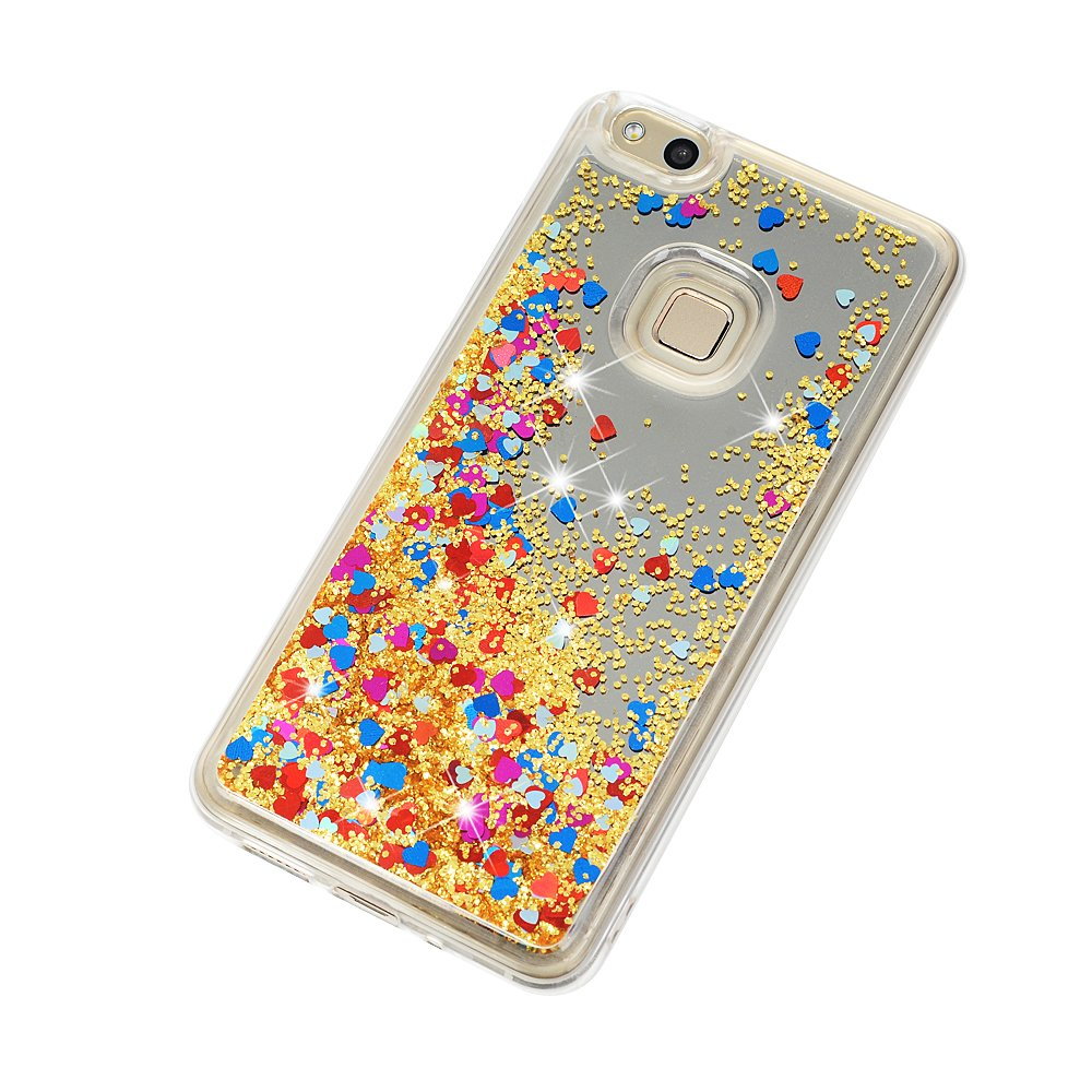 Lite Colorful Tophung Huawei P10 Lite Transparente Efecto Espejo, Purpurina Brillante, Efecto Brillante, con Arena r/ápida Carcasa de Silicona para Huawei P10 Lite