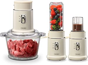 Chic Now Food Processor 3 in 1 Electric Food Chopper Smoothie Blender Coffee Grinder