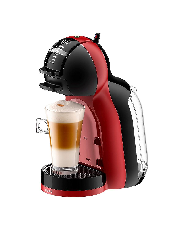 Krups Dolce Gusto Mini Me KP120H - Cafetera de cápsulas, 15 bares de presión, color cherry & black
