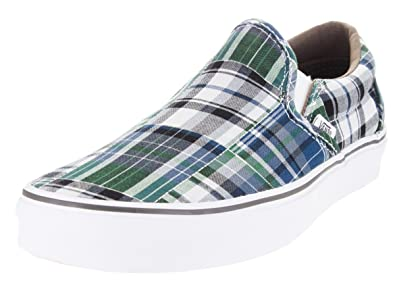 51fce5a27efe Vans Unisex Classic Slip On Plaid Patchwork Blue (7 Mens 8.5 Womens ...