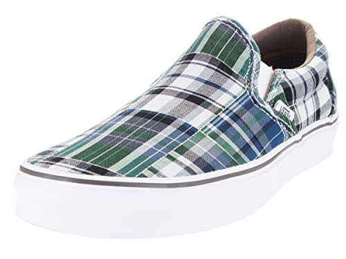 0ce9a9d6cc4a36 Vans Men s Classic Slip-on Plaid Patchwork Ankle-high Canvas Skateboarding  Shoe (Plaid Patchwork) Bl  Buy Online at Low Prices in India - Amazon.in