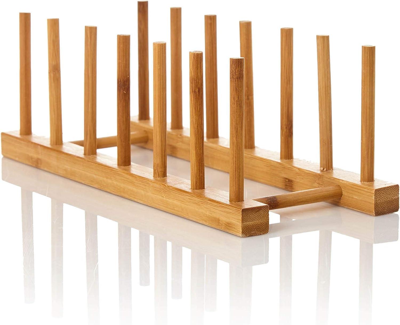 bambuswald© Escurreplatos fabricado de 100% bambú   Secaplatos 30 x 11,5 x 10,5 cm - Escurridor para platos y tazas   Estante para trastes - Rejilla - ...