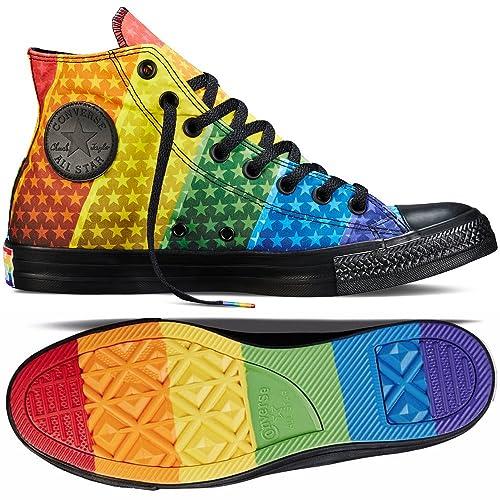 3da0c1483c93 Converse Chuck Taylor Hi All Star Pride LGBT Rainbow 154792C Black Unisex  Shoes (Size 7