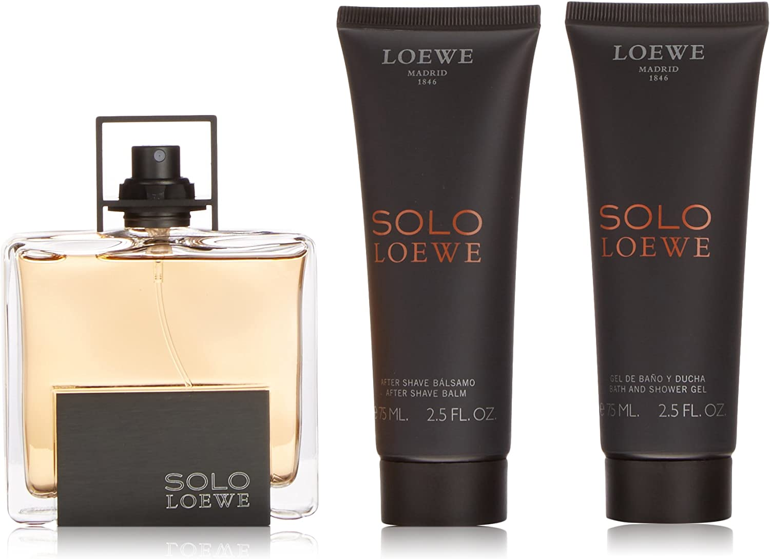 Loewe Solo Loewe Eau De Toilette 75Ml Vapo. + After Shave Balsamo 75Ml + Gel 75Ml: Amazon.es: Belleza
