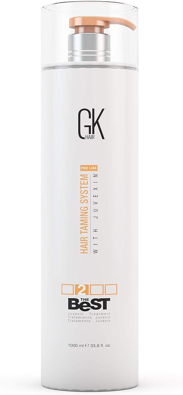 Global Keratin GKhair El mejor tratamiento profesional de alisado y alisado de queratina (1000 ml/ 33.8 fl.oz) para un cabello suave y sedoso.