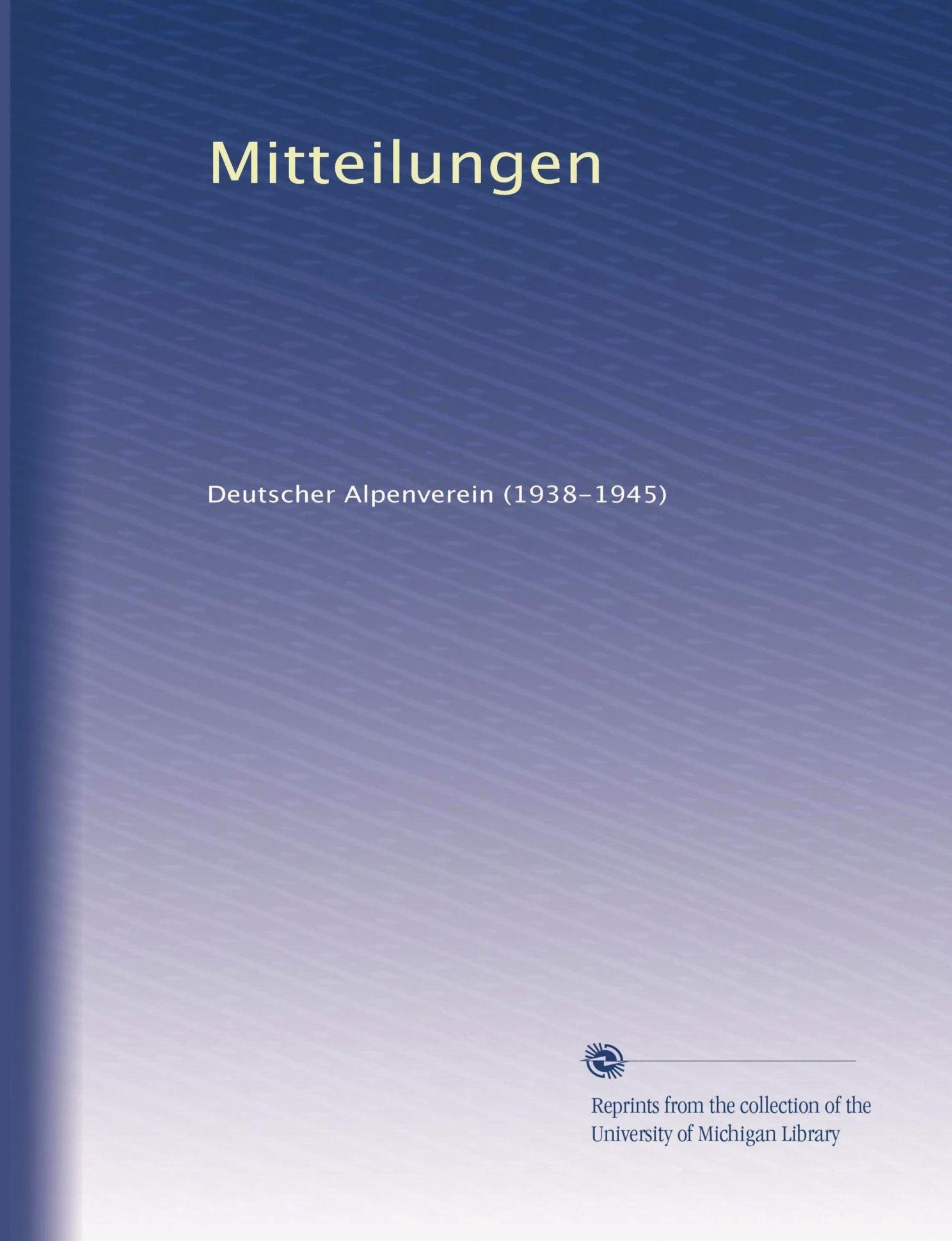 Mitteilungen (Volume 20) (German Edition) PDF