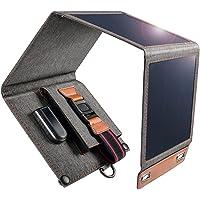 Cargador Solar 14W Impermeable Portátil USB Cargador de Panel Solar al Aire Libre con 4 Paneles Solares Plegables Para…