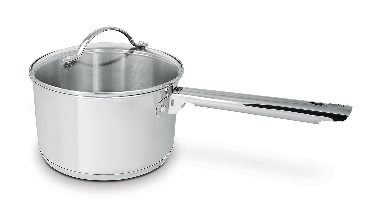 Cuisinox POT-DE14 Deluxe Covered Saucepan, 1.3-Liter, Stainless Steel