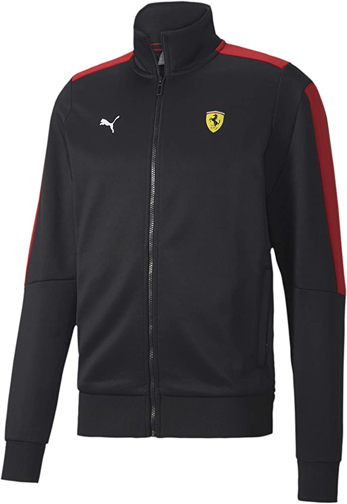 Formula 1 Scuderia Ferrari Men S Race T7 Track Jacket Puma Black S Clothing Amazon Com