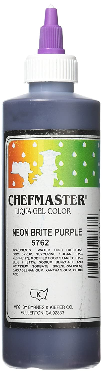 Chefmaster Liqua-Gel Food Color, 10.5-Ounce, Neon Brite Purple