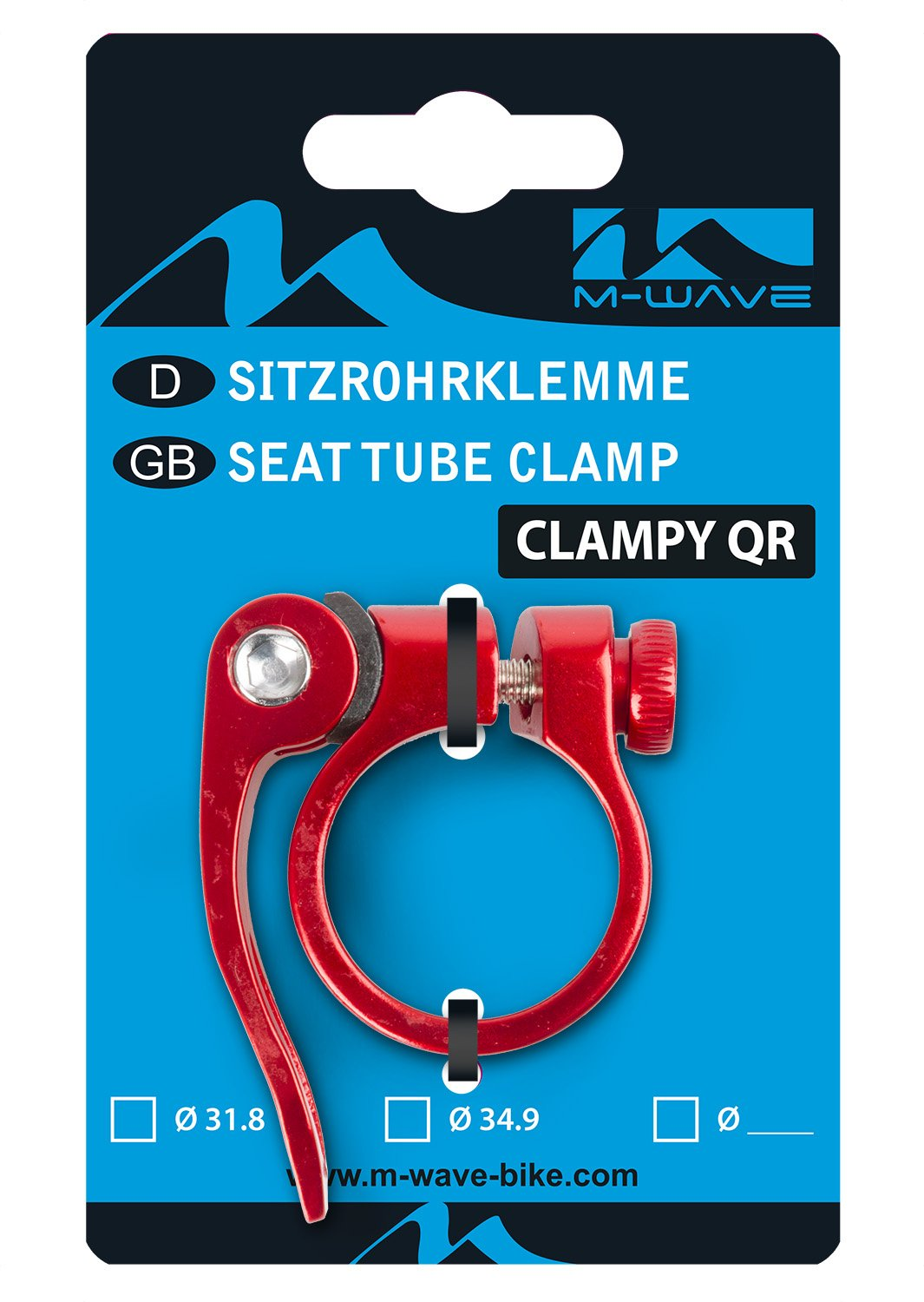 M-Wave Seat Post Clamp with QR for 31.8 mm Cycle Force Group 250925