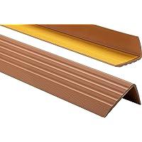 ProfiPVC Zelf klevende PVC trap neus - trapprofiel van getest PVC, anti-slip, 41x25mm 80cm, Amber