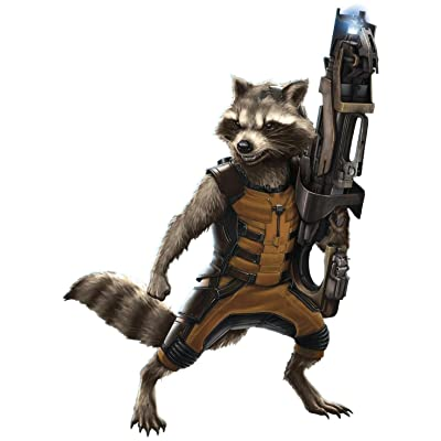 RoomMates Guardians of the Galaxy Raccoon Peel and Stick Giant Wall Decals: Home Improvement