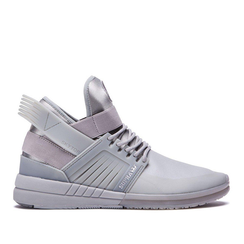 Supra Mens Skytop V High Top Sneakers 12 M US Grey/Grey/Grey