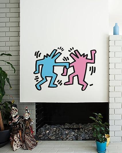 Amazon.com: BLIK Surface Graphics Keith Haring Dancing Dogs ...