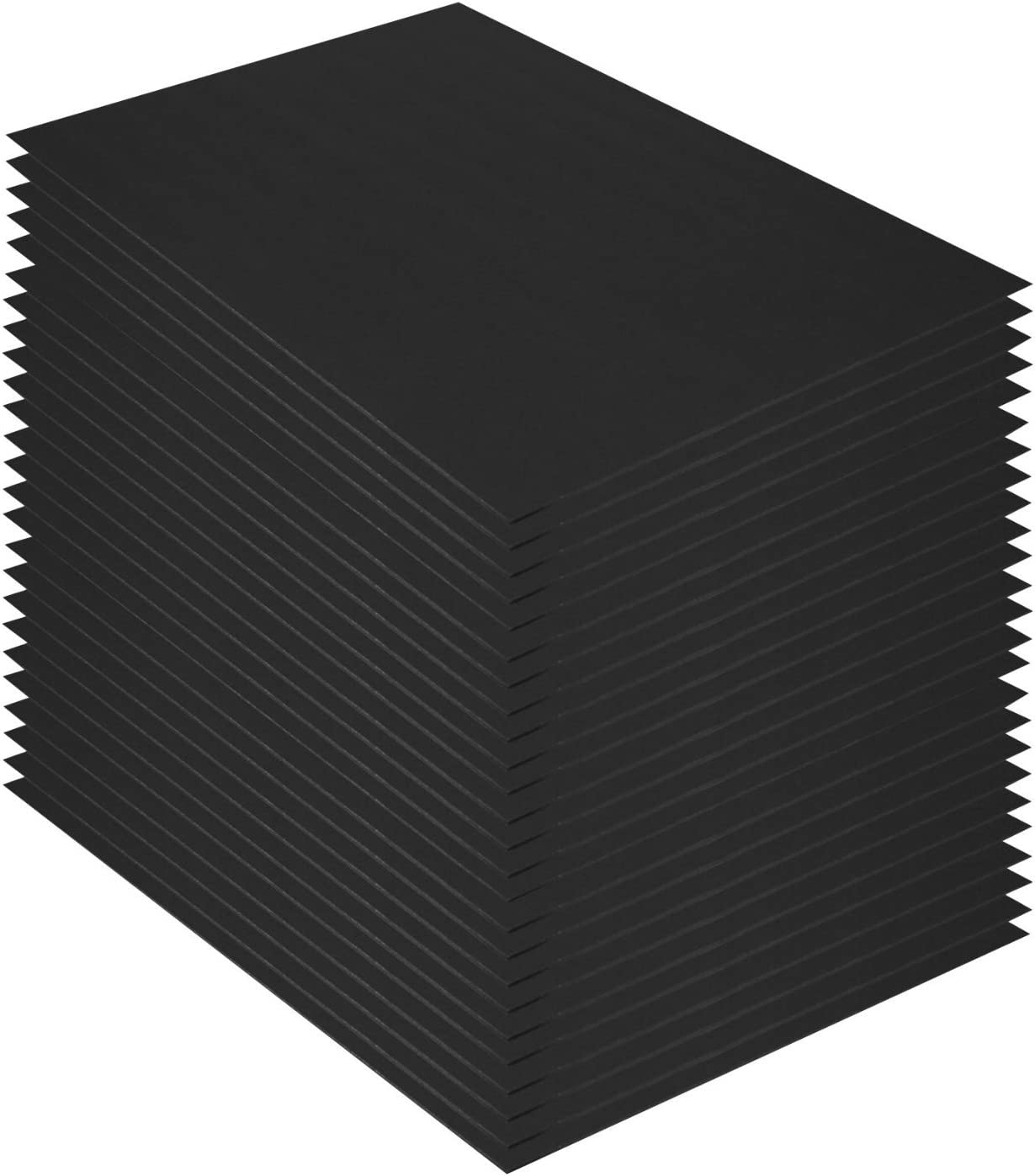 3//16 Thick 11x14 Black Foam Core Backing Boards 11x14, Black Golden State Art Pack of 50