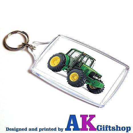 Tractor verde llavero de regalo de cumpleaños de doble cara ...