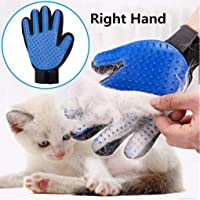Pet Grooming Gloves, Cat Brush - Gentle Hair Removal Dusting Brush Gloves - Suitable for Long Hair Shorthair Cats (Right…