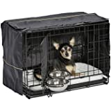 iCrate Dog Crate Starter Kit   22-Inch Dog Crate Kit Ideal for XS Dog Breeds Weighing Up to 12 Pounds   Includes Dog…