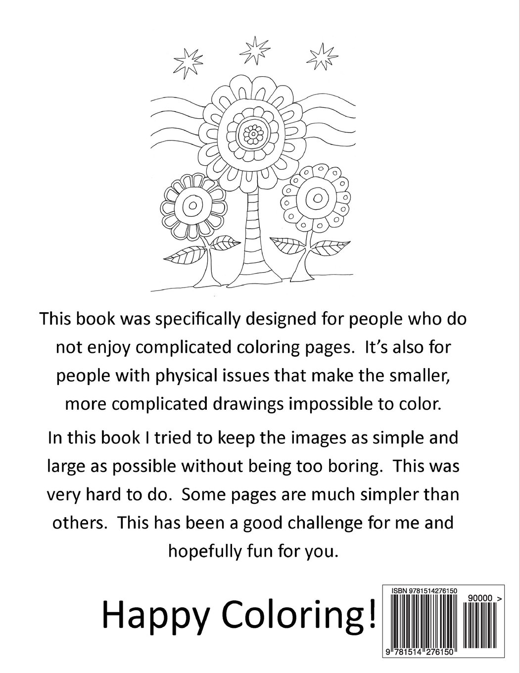 amazon com simple designs a laid back coloring book