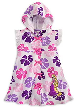 7b1cf5ecb3 Image Unavailable. Image not available for. Color  Disney Store White  Princess Rapunzel Hooded Swimsuit ...