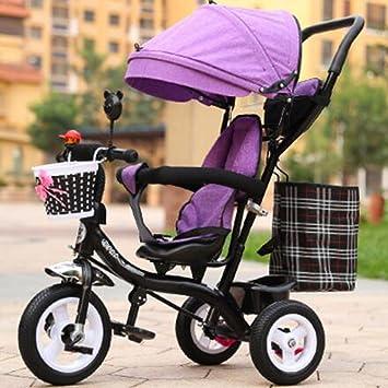 Carrito de bebé Triciclo de niños Bicicletas de bebé para Hombres y Mujeres/Carrito de