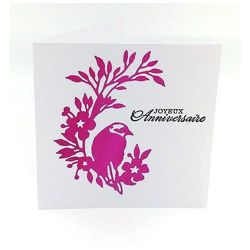 Carte D Anniversaire Homme Femme Carte Joyeux Anniversaire Carte Double 13 5 X 13 5 Cm Avec Enveloppe Amazon Fr Handmade