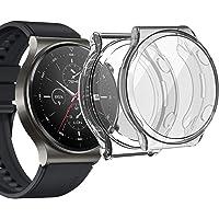sciuU Etui ochronne kompatybilne z Huawei GT 2 Pro, [2 sztuki] elastyczne etui TPU z ochroną ekranu, miękka ramka…