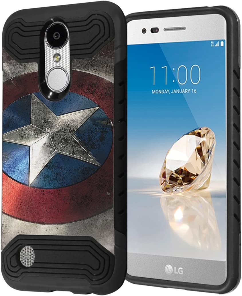 LG Aristo Case, LG Fortune Case, LG Phoenix 3 Case, Capsule-Case Hybrid Dual Layer Slim Armor Case (Black) for LG Aristo/Fortune / Phoenix3 / K4 2017 / K8 2017 - (Rock Star)