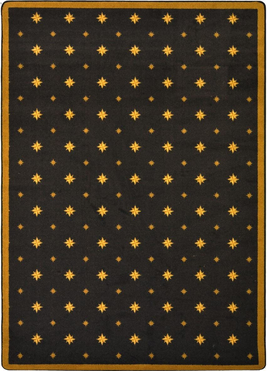 Joy Carpets Any Day Matinee Walk of Fame Theater Area Rugs, 64-Inch by 92-Inch by 0.36-Inch, Brown