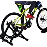 Health line products 8 Levels Indoor Bike Turbo Trainer Stand Magnetic Varied Speed Cycling Bike with Front Wheel Block Sweat Guard Red