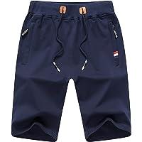 ZOXOZ Pantalones Cortos de Verano para Hombre Algodón Deportivos Shorts de Running Fitness Gym con Bolsillos con…