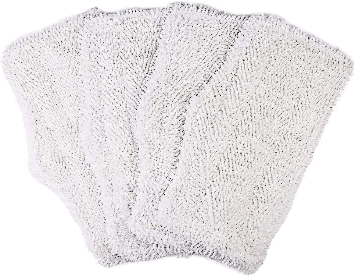 Revin-Sky 4 Pack Replacement Washable Cleaning Pads Compatible with Shark Steam & Spray Mop SK410, SK435CO, SK460, SK140, SK141, S3101, S3250, S3251