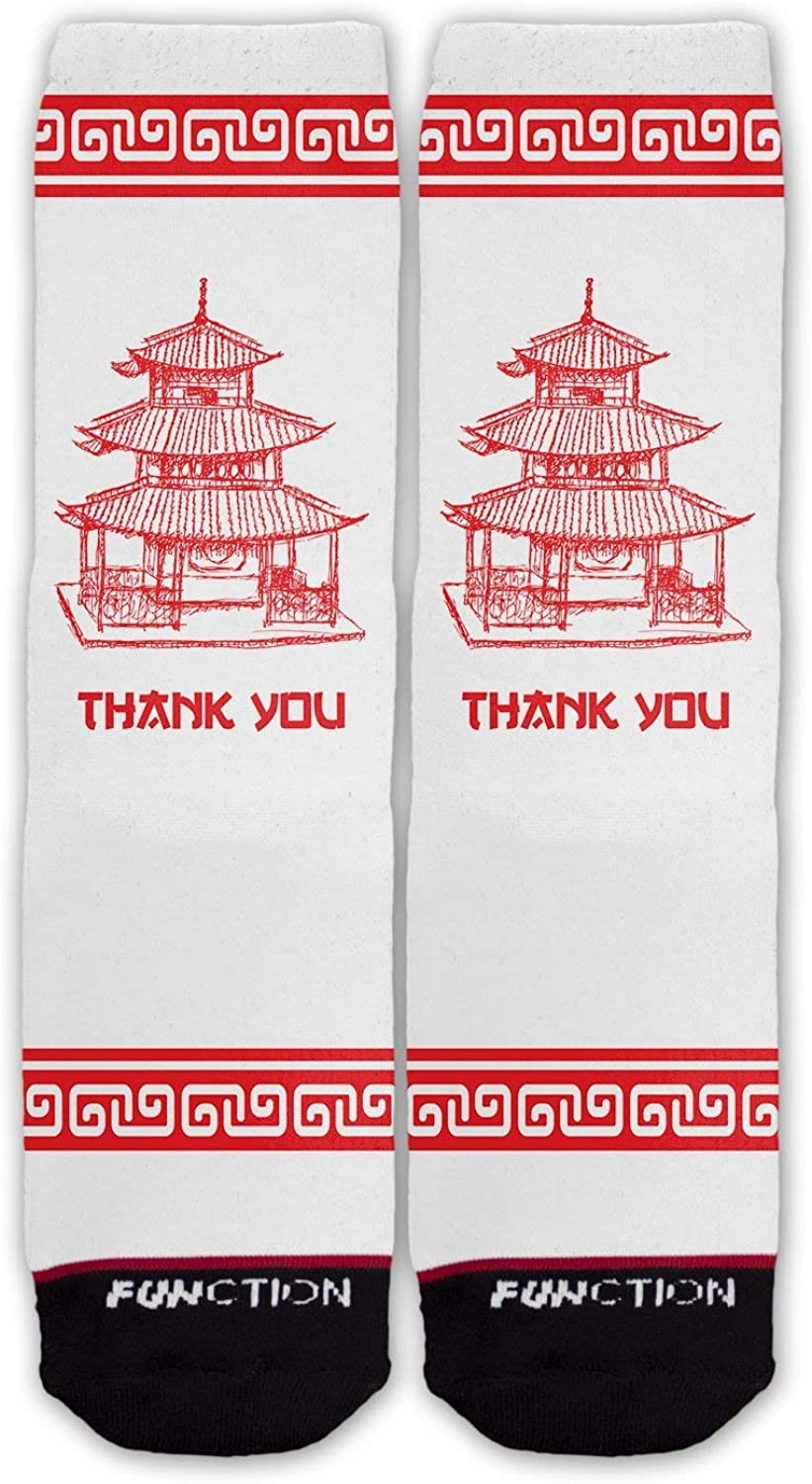 Function - Chinese Food Container Fashion Socks Thank You Take Out Box To Go