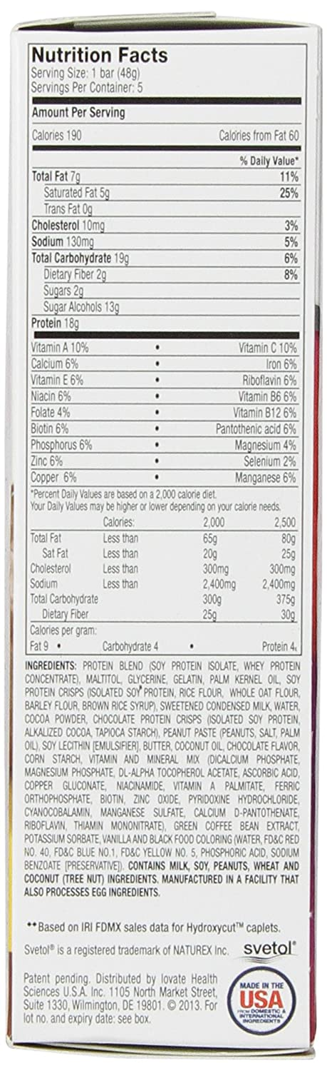 Hydroxycut Lean Protein Bars, Chocolate Fudge, 5 Count - 1.7oz Bars: Amazon.es: Salud y cuidado personal