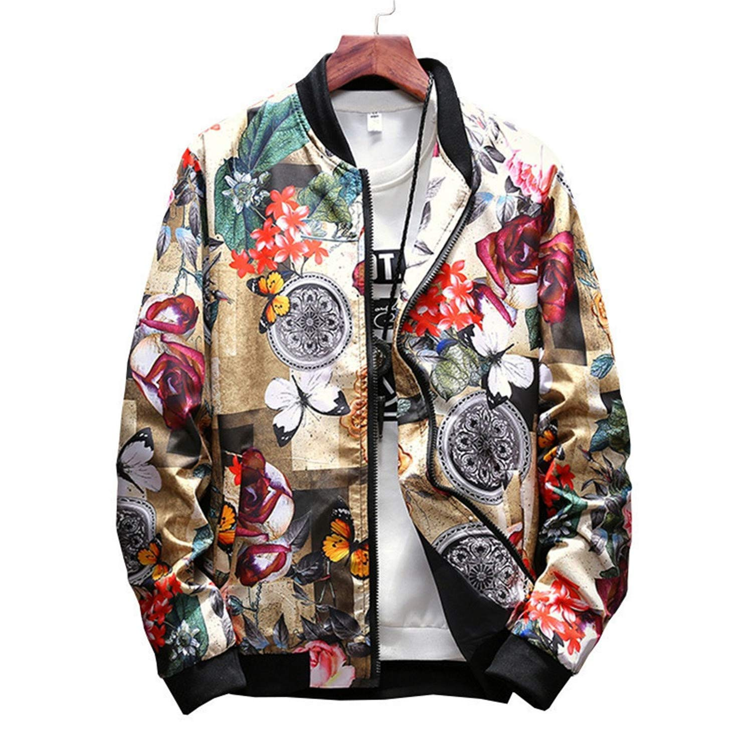 Giles Abbot New Japan Style Casual Bomber Jacket Men Mens ...