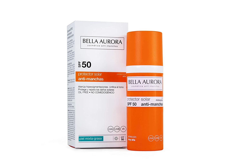 Bella Aurora Gel Solar Spf 50 Antimancas Piel Mixta Grasa Beauty