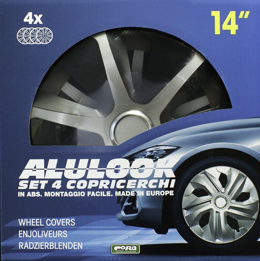 Lot de 4 Cora 41944/4/Universel en Aluminium Look Roco Mix Lot de 4/enjoliveurs 14