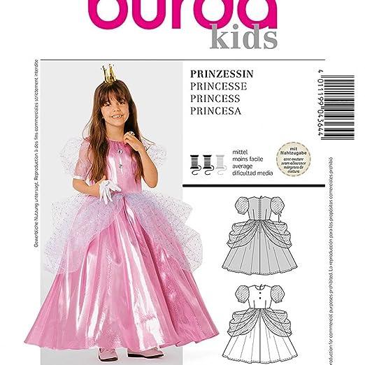 Patrón disfraz niño Niña Vestido De Princesa - Burda 4364 ...