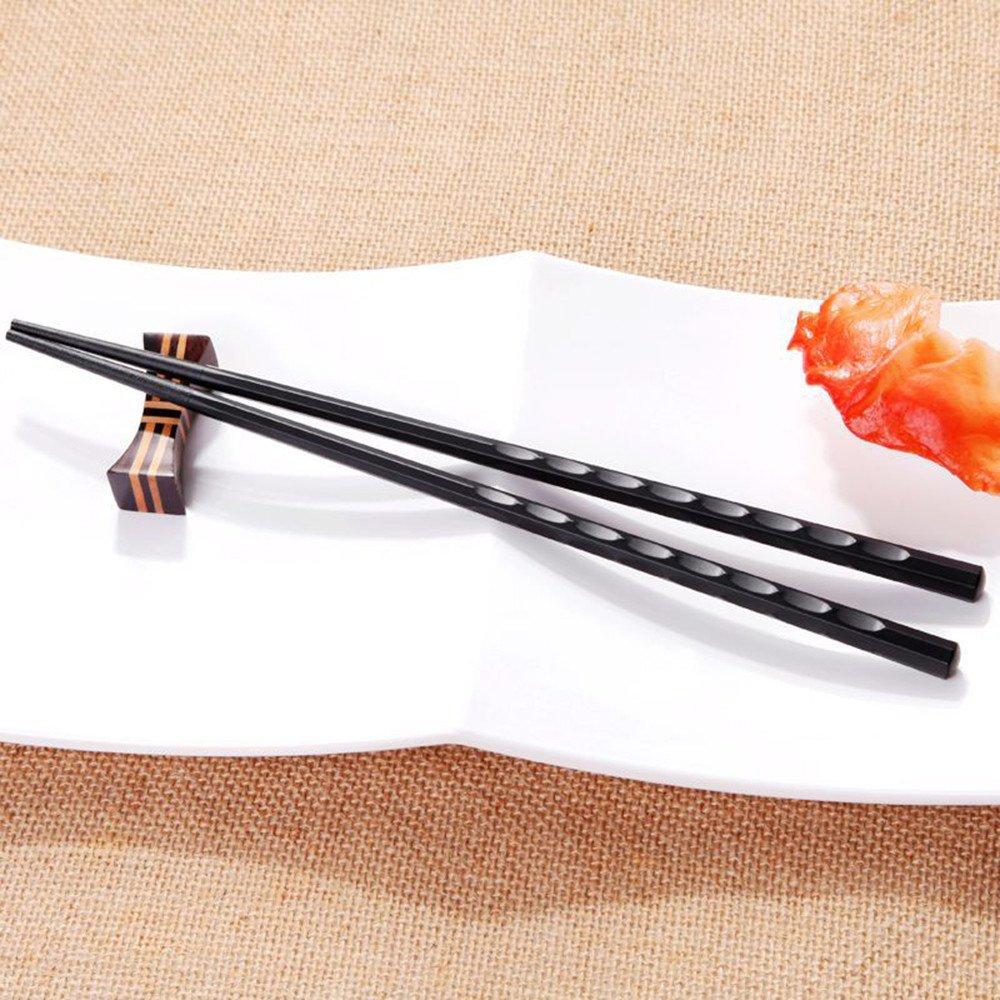 FeiliandaJJ Chopsticks 1 Pair Alloy Non-Slip Sushi Cutlery Durable Chopsticks Dinnerware Chinese Gift A