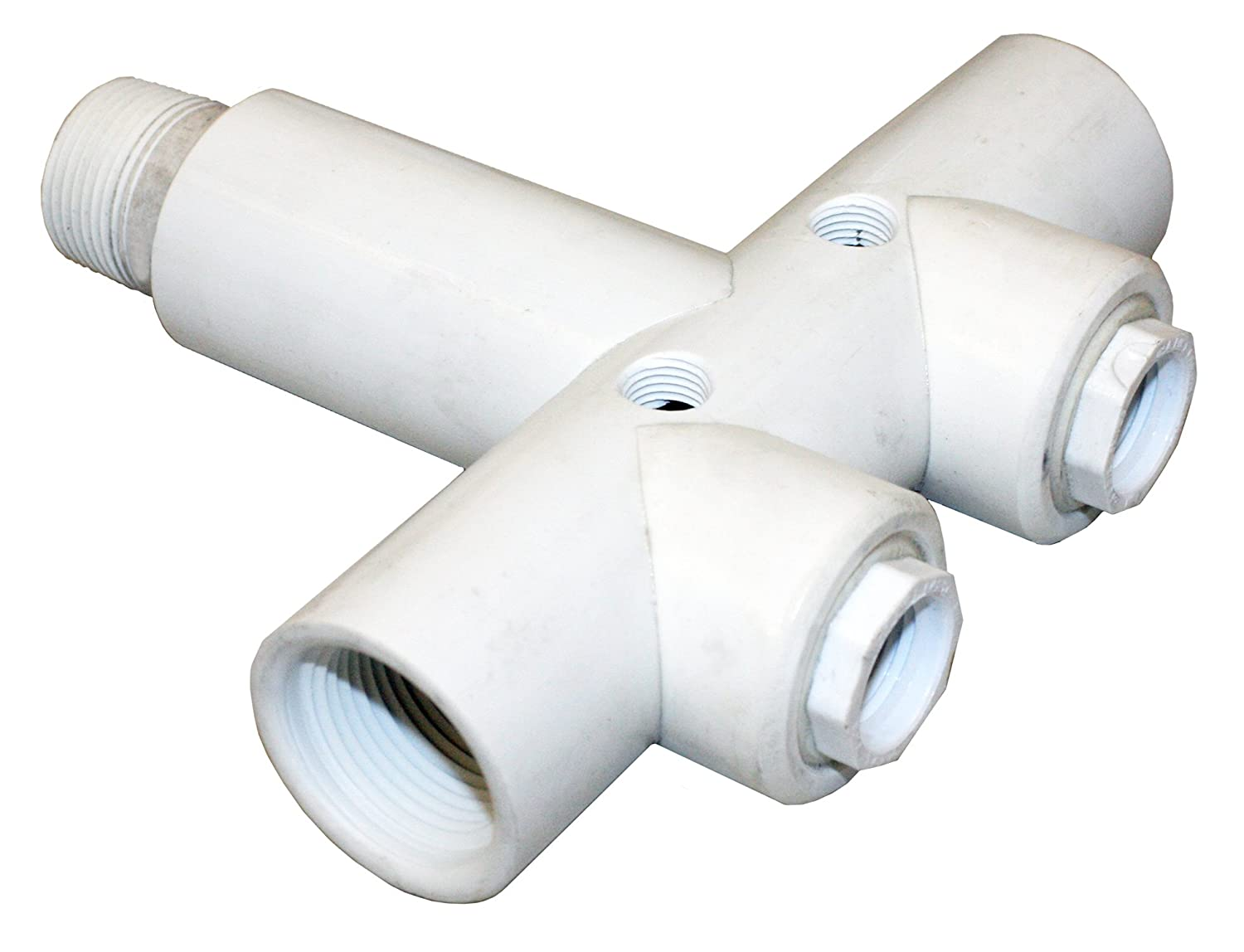 2 SCH 120 PVC 1 FIP Lateral Connection, 1 MIP Tank Connection Merrill MFG PVCHDT1002M PVC Tank Tee 2 1//2 Drain Hole 1 MIP Tank Connection 1 FIP Lateral Connection 1//2 Drain Hole