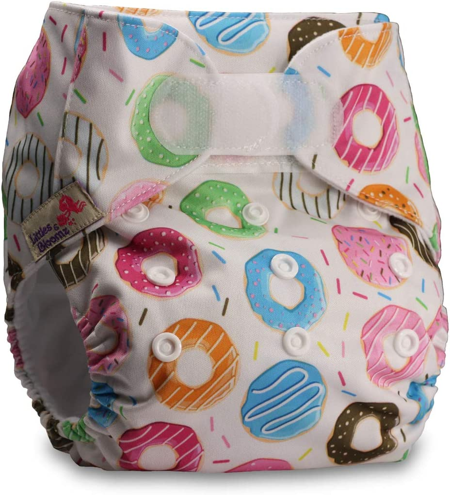 Set of 1 Reusable Pocket Cloth Nappy Pattern 18 Littles /& Bloomz Fastener: Hook-Loop with 1 Bamboo Charcoal Insert