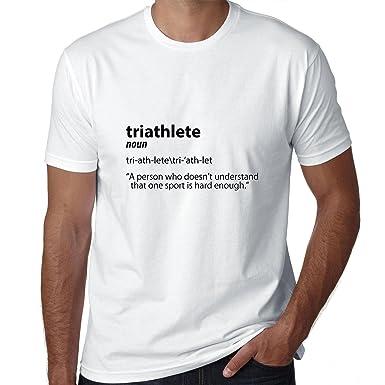 bba0b650 Funny Triathlete Dictionary Definition Ironman Men's T-Shirt: Amazon.co.uk:  Clothing