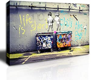 DINGDONG ART - Graffiti Street Art Canvas Graffiti Art Prints on Canvas Stretched Framed Canvas Wall Art Decor for Living Room Home Walls Ready to Hang