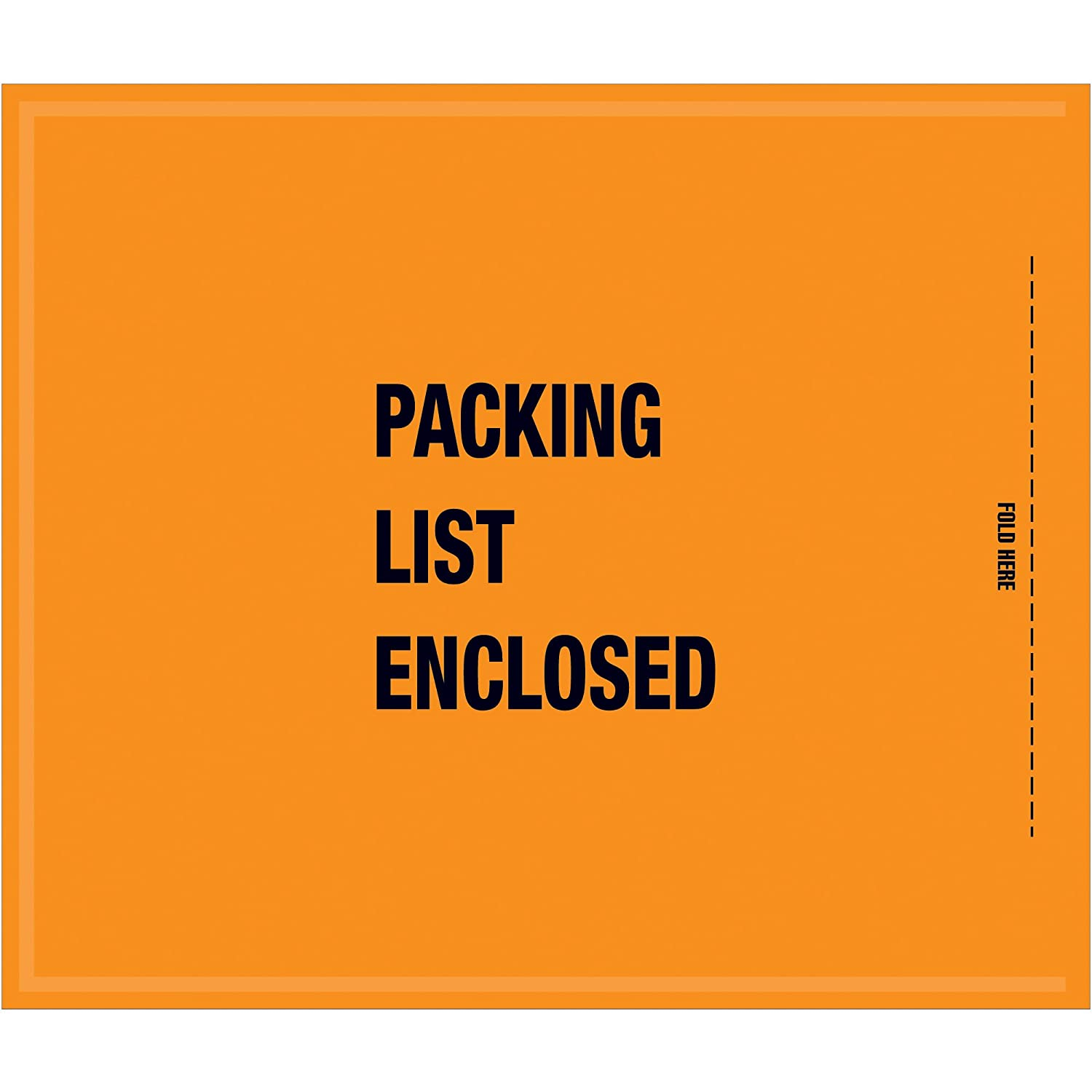 Aviditi GSA30EL Poly military-Specification Envelope, Packing List Enclosed, 8-1/2 Length x 10 Width x 2 mil Thick, Orange (Case of 1000) by Aviditi B00BT2HUKG