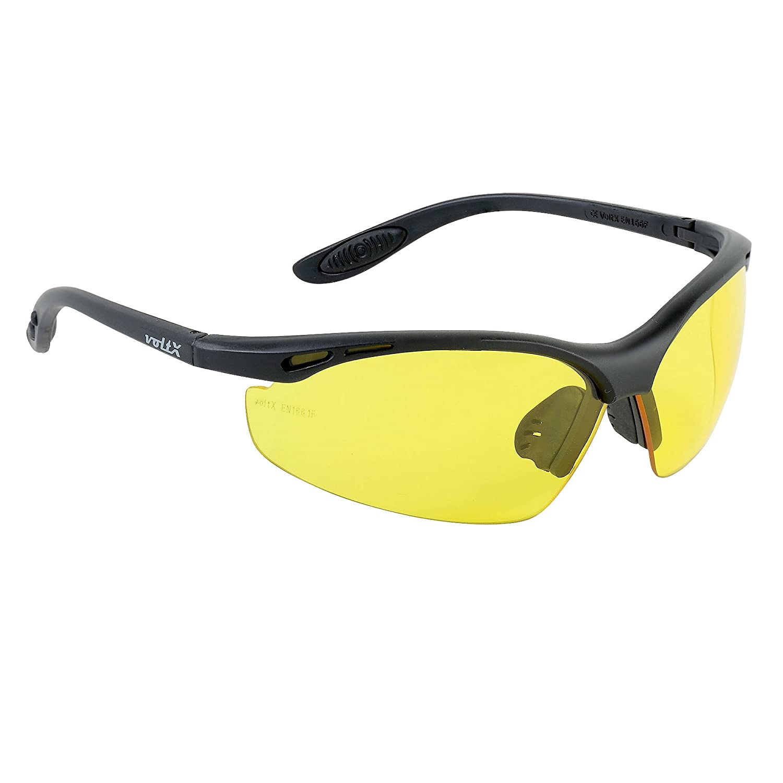 voltX 'Constructor' Wraparound Sicherheitsbrillen/Radsport Sportbrillen (KLAR Keine Vergrö ß erung) CE EN166F Zertifiziert, Anti-Fog und Anti-Kratzer, Klasse 1 UV-Schutz/Safety Glasses StraightLines Others